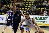 Z basketbalového utkání Mattoni NBL Děčín - Poděbrady.
