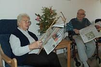 Domov seniorů Villaniho v Benešově má už částečně vánoční výzdobu za sebou.