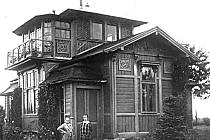 Lovecký pavilon ve Velvarech ve 20. letech minulého století.