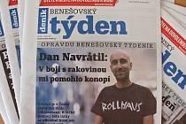 Titulní strana dvacátého druhého čísla týdeníku Benešovský týden.