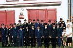 Maršovičtí hasiči při oslavách 120 let trvání sboru.