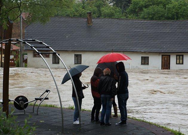 Povodeň ve Vlašimi.