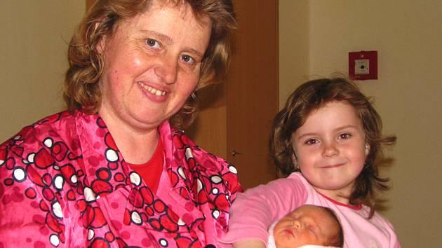 V pondělí 30. dubna ve 21 hodin se narodila Kateřina rodičům Mileně Ratajové a Antonínu Cabalkovi. Její váha  byla 2,50 kg a míra 46 cm. Doma  bude v Benešově se sestřičkou Miluškou (5).
