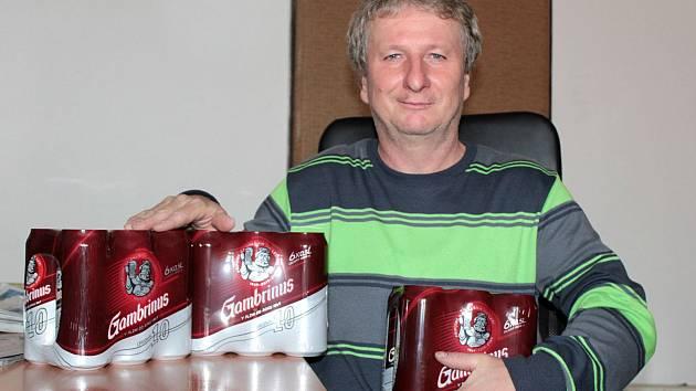 Robert Žarnecki st. v redakci Benešovského deníku.
