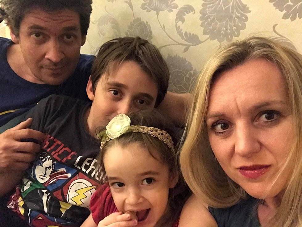 Pavel Kuře s rodinou.