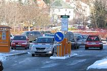 Benešovské parkoviště Pod brankou.