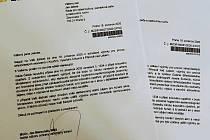 Dopis z Ministerstva zdravotnictví ČR radnímu Janu Jakobovi.
