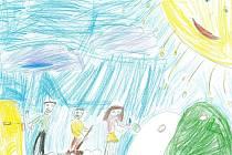 Jednou ze soutěžních prací je obrázek sedmileté Magdalénky Čechové z Benešova.