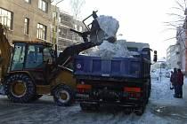 Zima ve Vlašimi.