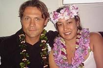 Dušan Přívozník s manželkou Christinou Sonyou ještě v Americe