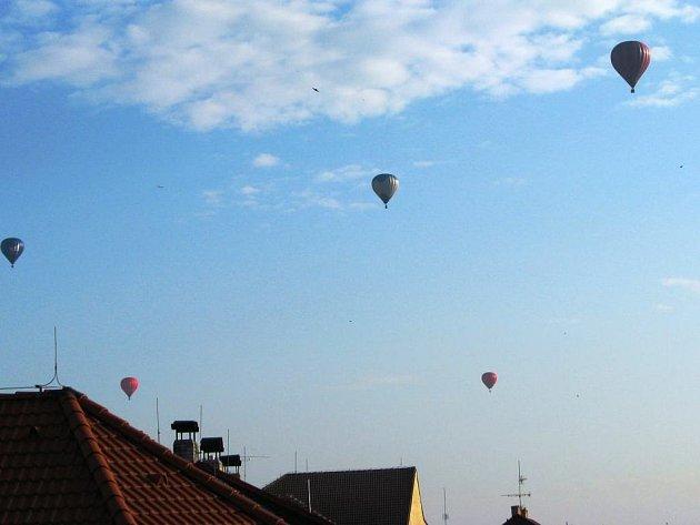 Lety balonem nad Benešovem