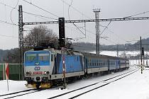 Po večerním sněžení jezdí na Benešovsku vlaky ve středu 1. února včas nebo s minimálním zpožděním.