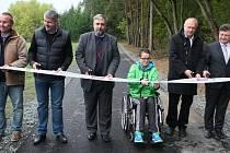 Na Benešovsku vznikla další cyklostezka pro vozíčkáře.