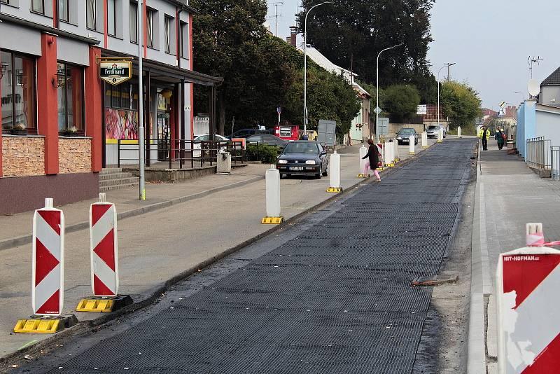 Rekonstrukce Hodějovského ulice v Benešově.