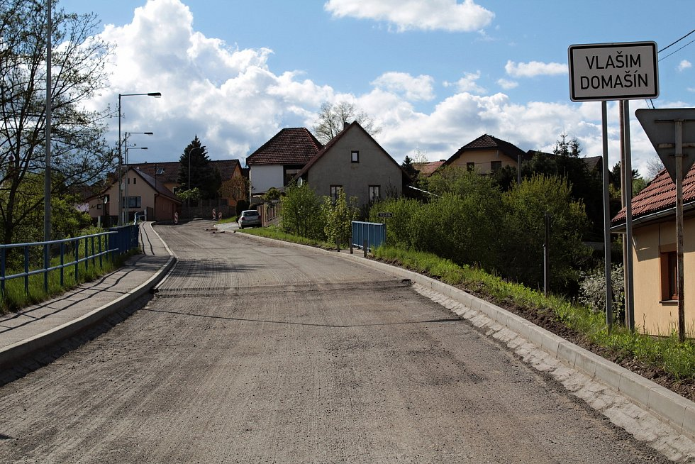 Rekonstrukce silnice II/112 v Domašíně.