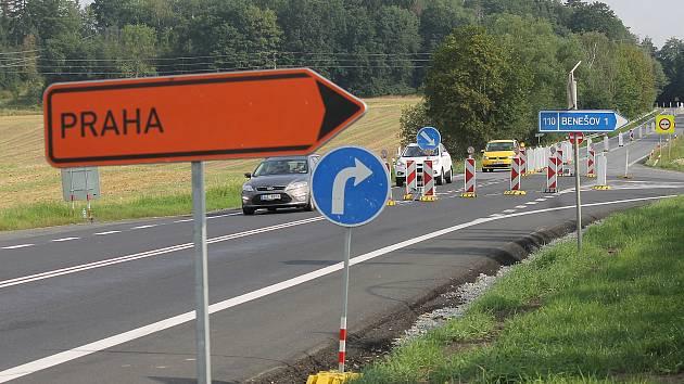 Vozidla od Tábora směrem na Prahu pojedou od středy 5. října opět ulicemi Benešova, tranzitní nákladní doprava mimo město.