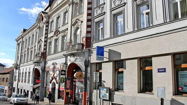 Hotel Pošta v benešovské Tyršově ulici.