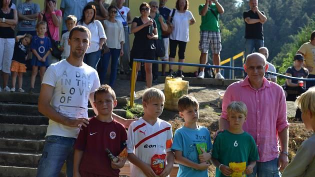 Fotbalový turnaj mladších přípravek v Poříčí nad Sázavou.