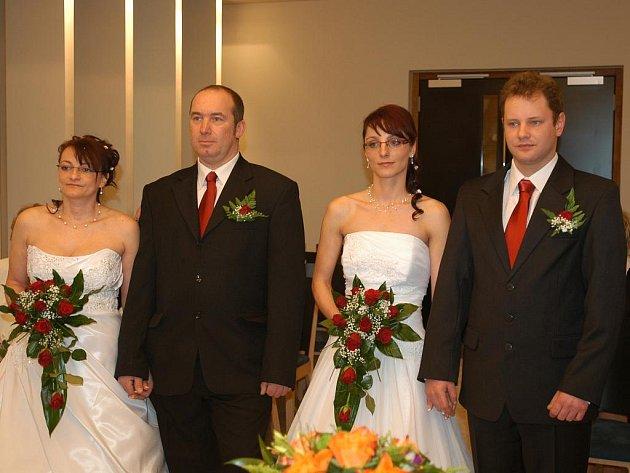 Svatba Ludmily Šmídové a Reného Vavrušky a Miroslavy Šmidové a Lukáše Brabence.
