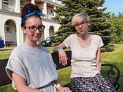 Martina (blond) a Marika v RÚ Kladruby.