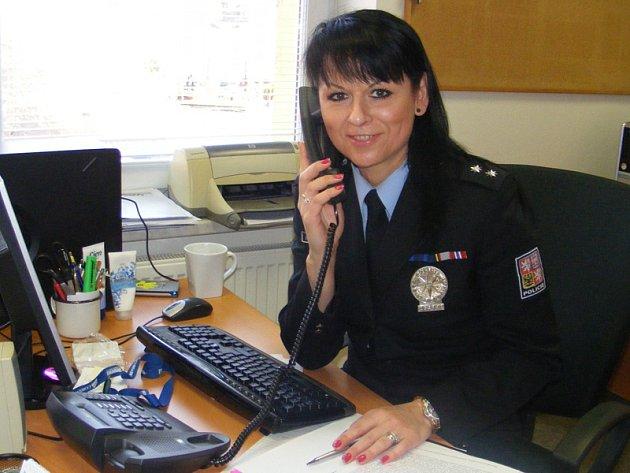 Eva Stulíková, tisková mluvčí Územního odboru Policie ČR Benešov.