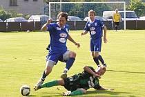 Momentky z druholigového zápasu FC Graffin Vlašim – FK Baník Sokolov