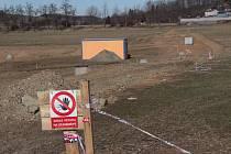 Areál votického biokoupaliště v polovině března 2019.