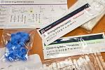 Antigenními testy na covid-19. Ilustrační foto.
