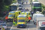 Hromadná nehoda šesti vozidel na dálnici D1.