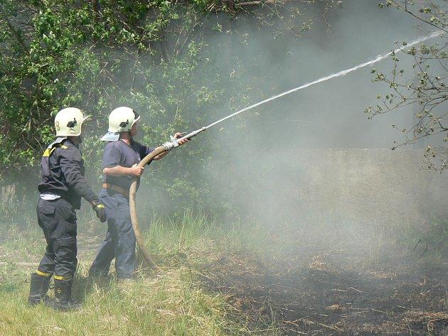 Zásah peceradských hasičů.