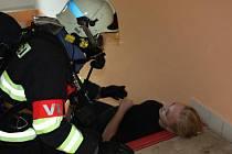 Zákulisí cvičení složek Integrovaného záchranného systému v benešovské nemocnici.