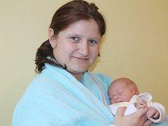 Malý Daniel se narodil 2. ledna v 20.44. Na svět přišel s váhou 2,82 kilogramu a mírou 47 centimetrů. Z prvorozeného syna se radují rodiče Monika a Tomáš Kalfusovi z Vracovic u Vlašimi.