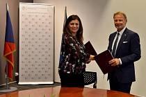 Ze slavnostního podepsání smlouvy grantového projektu ELENA v Bruselu.