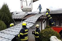 Požár rodinného domu u Jílového.