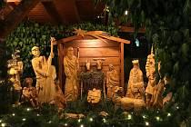 Vánoční výzdoba v pasáži Stone park v Benešově.
