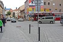 Tyršova ulice v Benešově v prosinci roku 2020.