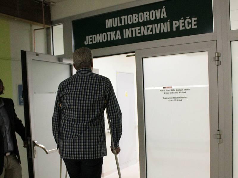 Multioborová jednotka intenzivní péče v Nemocnici Rudolfa a Stefanie Benešov.