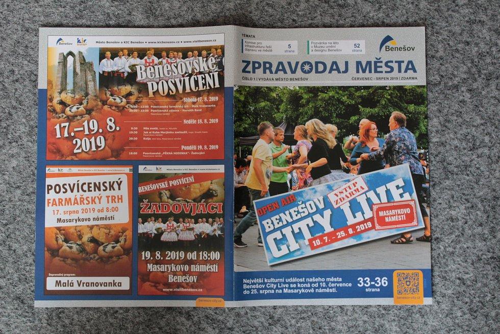 První vydání Zpravodaje města Benešova.