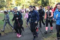 Z prvního ročníku charitativního Nordic Walking pochodu na Konopišti.