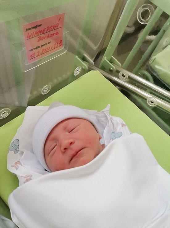 Barbora Wimmerová se narodila 15. února 2021 v kolínské porodici, vážila 3715 g a měřila 50 cm. Do Hlavečníku odjela s bráškou Davidem (5.5) a rodiči Kristýnou a Milošem.