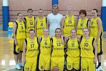 Basketbalová rezerva benešovských žen postoupila do II. ligy.