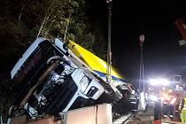 Dopravní nehoda kamionu na 26. kilometru dálnice D1.