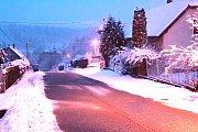 Sníh v Peceradech ve čtvrtek 10. ledna 2019 ráno.