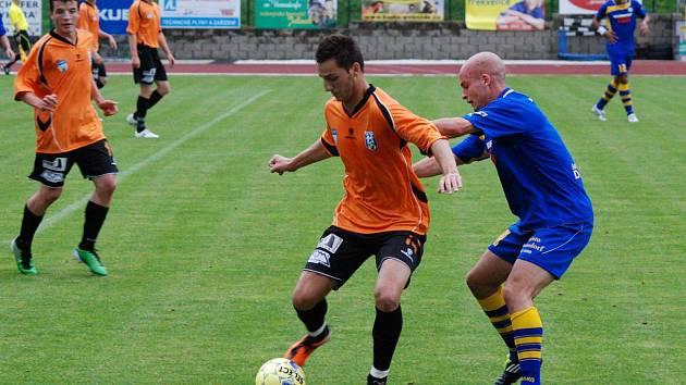 Zápas II. fotbalové ligy Varnsdorf - Vlašim 0:1.