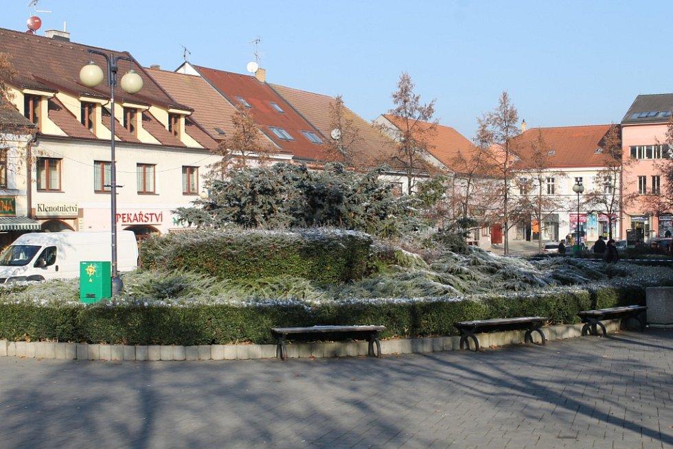 Rekonstrukce Masarykova náměstí v Benešově.