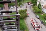 Taktické cvičení jednotek požární ochrany v Rehabilitačním ústavu Kladruby.