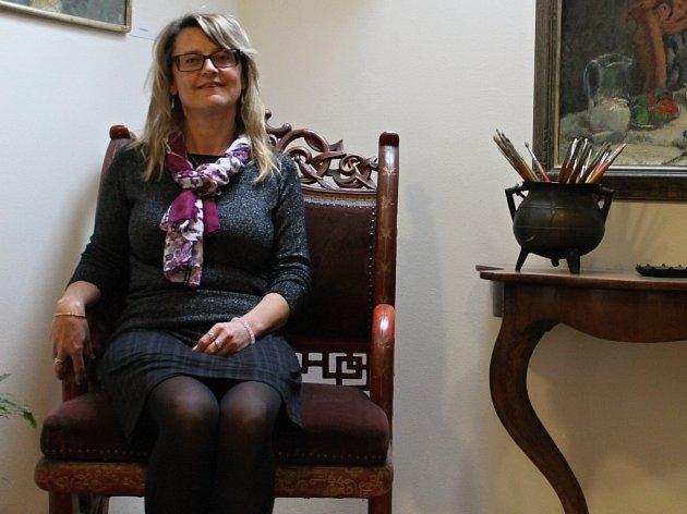 Jana Vlasáková, pracovnice Muzea Štěpánovska vTrhovém Štěpánově.