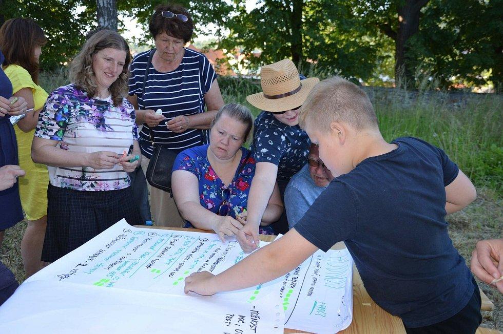 Z komunitního plánování budoucí zahrady za Klášterem sv. Františka z Assisi ve Voticích.