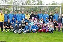 Trénink fotbalistů Graffinu Vlašim navštívili žáci 6. třídy Mateřské školy Velíšská.