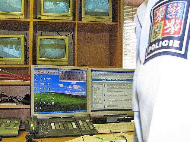 Operační středisko linky 158 v Benešově.